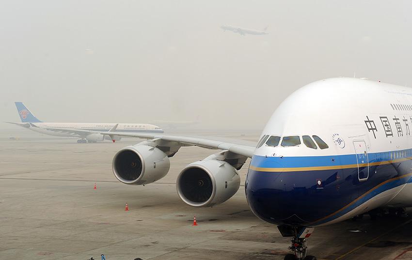 北京首都国际机场航班未受雾霾影响