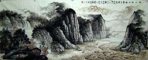 书画家安茂水 曾参与创作吉祥奥运百米巨幅长卷图片
