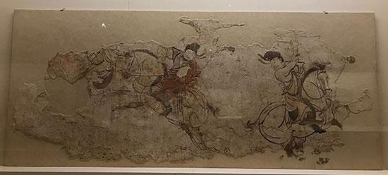 它描绘了唐代景龙三年(709年),吐蕃派千余人前来迎娶金城公主,宫廷马
