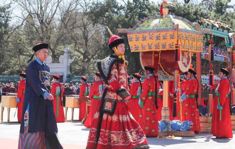 北京日坛公园举行春分祭日典仪