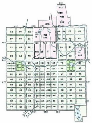 唐长安城布局图