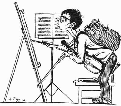 素描简笔画-漫画大师丁聪在北京辞世,享年93岁