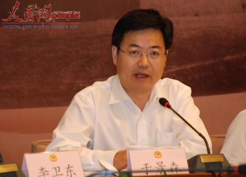 天津市委宣传部副部长于景森.(人民网记者文松辉摄影)