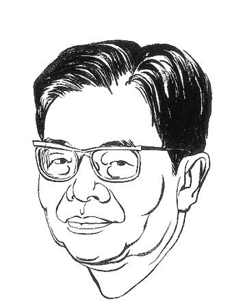 邓小平简笔素描速写