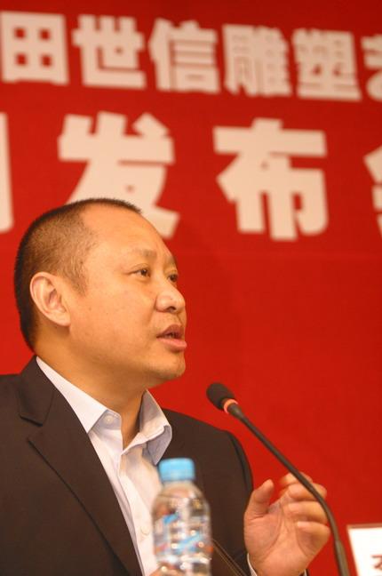 上海美術館執行館長李磊在展覽相關的活動上,介紹田老師的作品所反映的歷史人物都是在中華民族大轉折時的重要人物,不難看出藝術家的社會責任感。本報記者  方雲偉攝